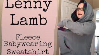 Lenny Lamb Fleece Babywearing Sweatshirt | Baby Wearing Wednesday