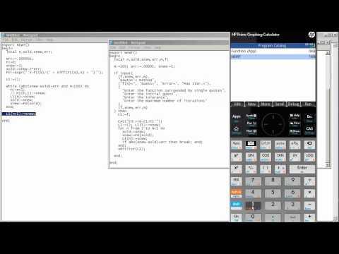 HP Prime - Programming & Newton's Method (Part 2)