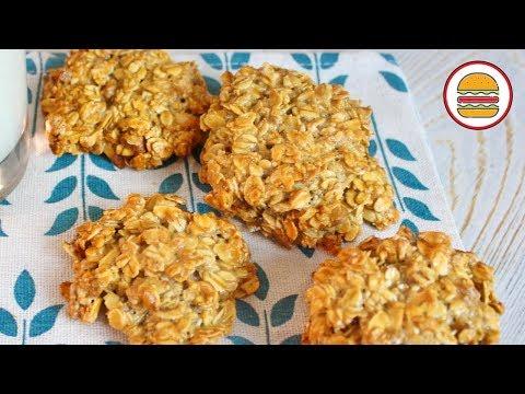 Быстрое овсяное печенье за 15 минут.  Рецепт овсяного печенья без масла.
