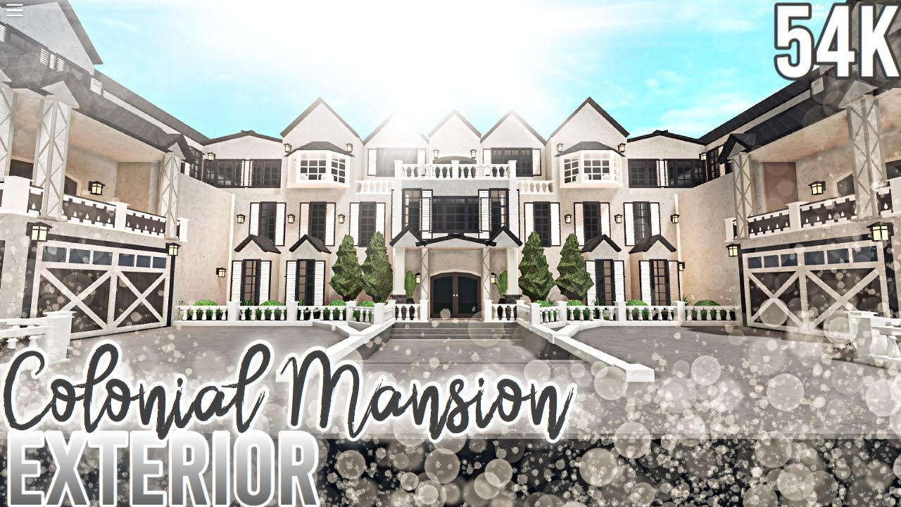 French Colonial Mansion Exterior Nixilia Roblox