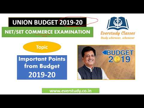 Budget 2019-20   Important Points for UGC Net Commerce