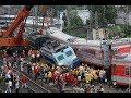 Ужасное столкновение двух поездов Лоб в лоб Жесть Смотреть всем mp3