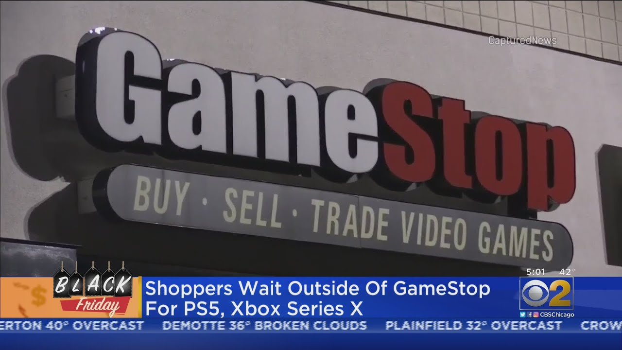Lines Form At GameStop As Shoppers Wait For PS5, XBox Series X - CBS Chicago