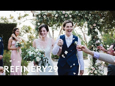 This Lesbian Couple's Wedding Revolves Around Religion | World Wide Wed | Refinery29 thumbnail