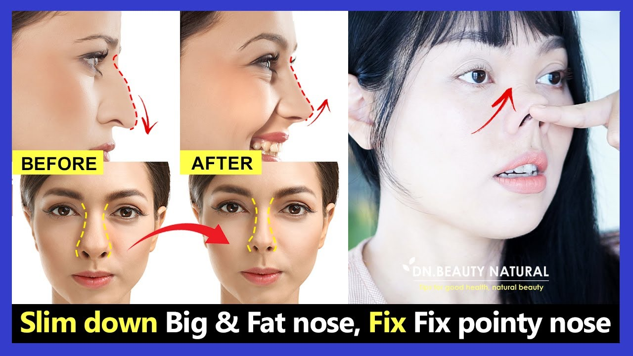 10 New Nose Exercises reshape big nose and Lose nose fat. Fix pointy nose  and get nose tip up.