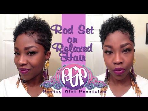 Rod Set Relaxed Hair Youtube