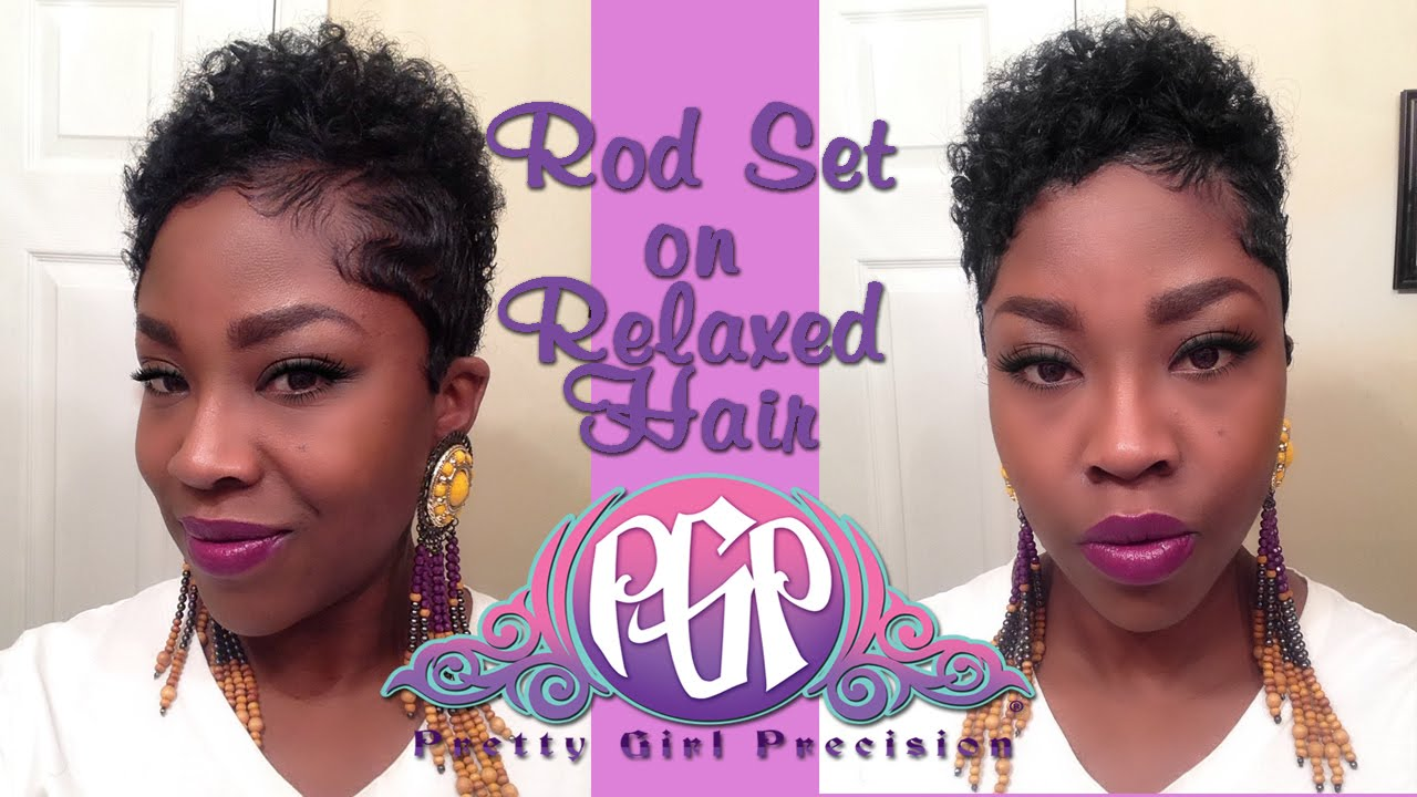 Rod Set Relaxed Hair Youtube