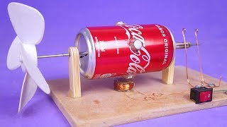 AMAZING ELECTRIC MOTOR WITH ALUMINUM CANS AND SIMPLE MATERIALS