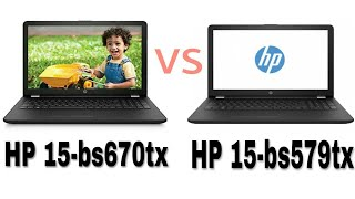 HP 15-bs670tx vs HP 15-bs579tx || Full HP Laptop Comparison in Hindi || Tracking Tech