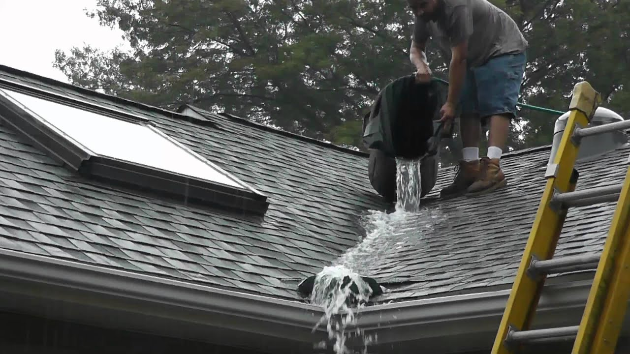 Roof Valley Rain Water Diverter Tests Www.roofvalleywaterdiverter.com    YouTube