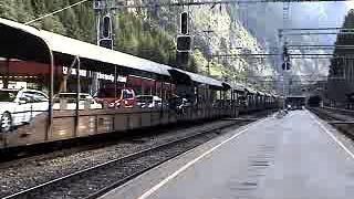 Europe Rail 2002 BLS Bf Goppenstein BLS Re4/4 Autoverlad  Lötschberg - Kandersteg-Goppenstein  ①