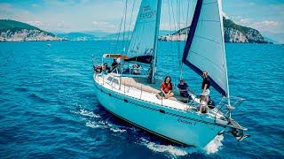in barca a vela alle Cinque Terre ⛵️