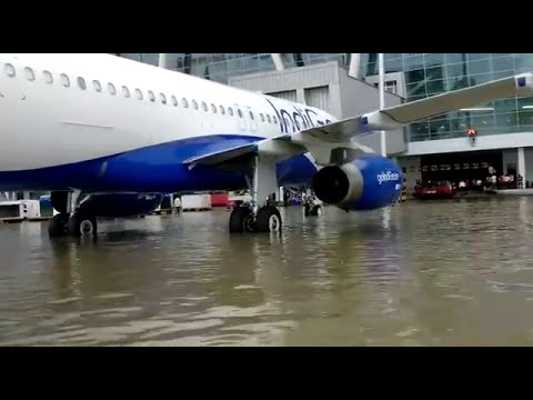 Chennai Flood | Fully Flooded Chennai Airport Runway View| Media Directory