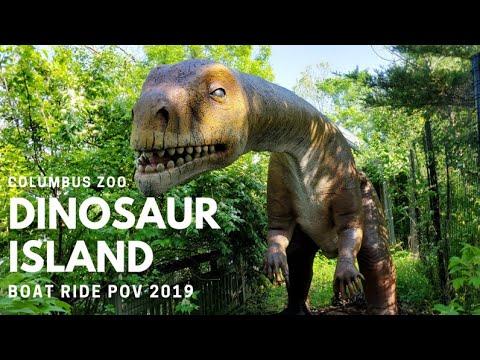 Columbus Zoo Dinosaur Island Boat Ride and Walkthrough 2019