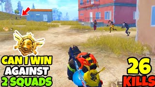 Can a S10 CONQUEROR Win Against 2 SQUADS in The Final Circle in PUBG MOBILE • (26 KILLS)•BEST GAME