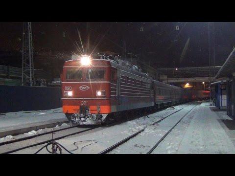 Электровоз ЭП1-090 с поездом №126 Москва — Новороссийск