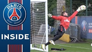 ENTRAINEMENT DES GARDIENS - GOALKEEPER TRAINING SESSION with Kevin Trapp