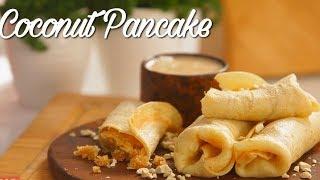 Coconut Pancake - नारियल पैनकेक - Jaggery Stuffed Coconut Pancake - Indian Dessert Recipe
