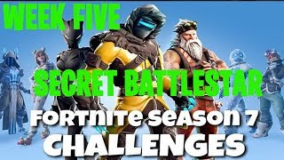Fortnite Battle Royale | Season 7 Week 5 Challenge | Snowfall Secret Battlestar Location Guide
