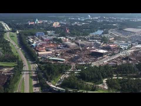 Thumbnail: Aerial Flyover of Star Wars Land and Toy Story Land Construction - Disney's Hollywood Studios, WDW