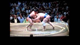 鶴竜vs碧山 大相撲平成27年秋場所 Kakuryu vs Aoiyama Sumo.