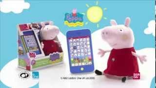 Peluche Interactivo con tablet Peppa Pig - Demostración de Producto - Bandai