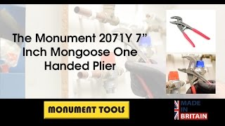 """The Monument 2071Y 7"""" Inch Mongoose One Handed Plier"""