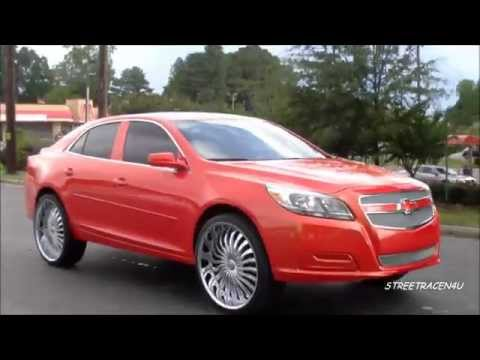 "2013 Chevy Malibu on 24"" rims"