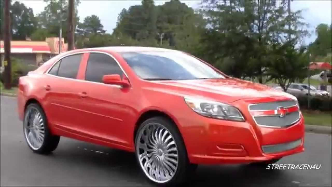 Worksheet. 2013 Chevy Malibu on 24 rims  YouTube