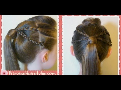 Double Braided Edgy Ponytail Hairstyle Back To School