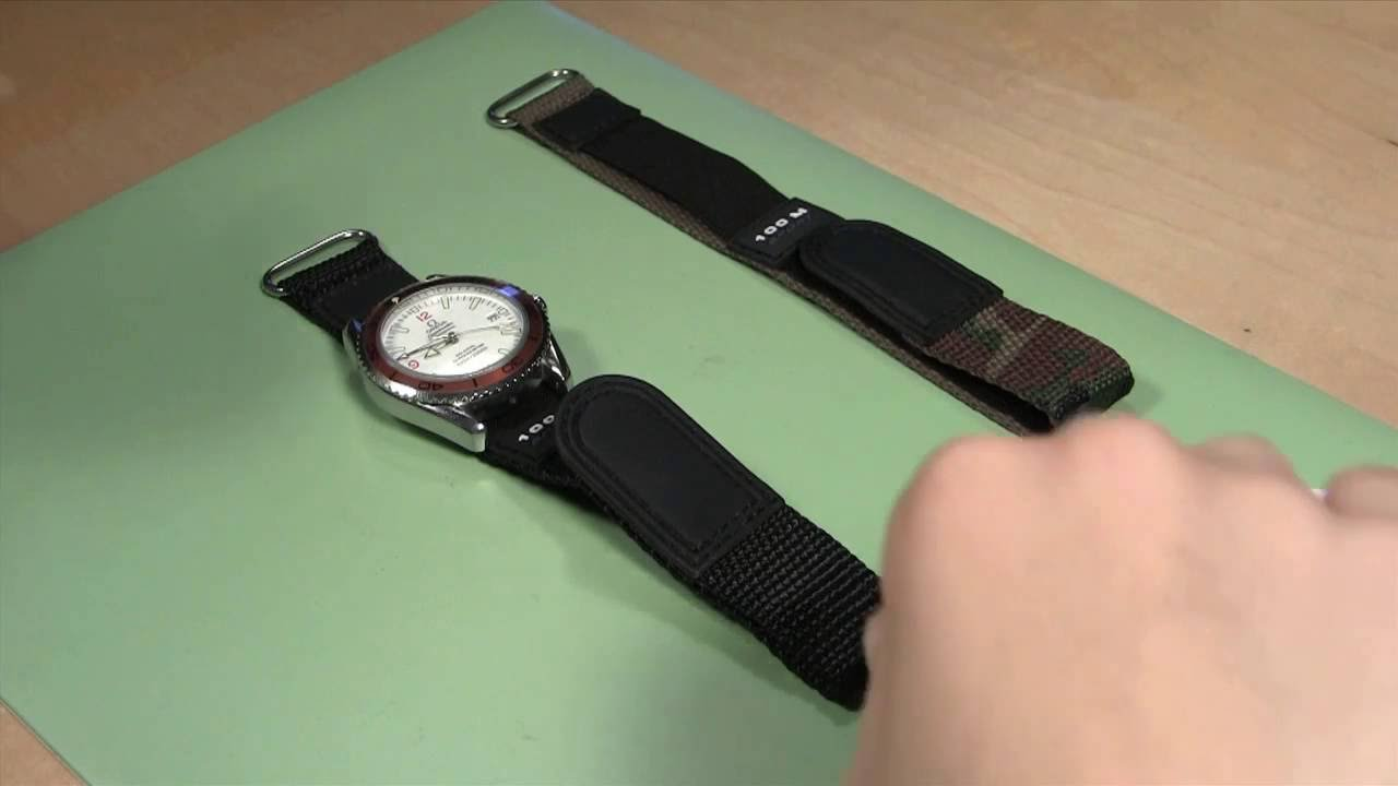 2fecef85d How to Change a Sport Velcro and Nylon Watch Band - YouTube
