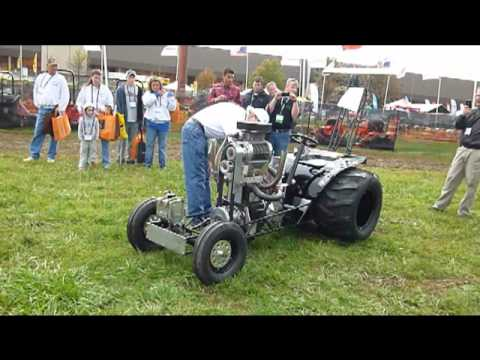 Custom Built Supercharged Mini Tractor Puller Youtube