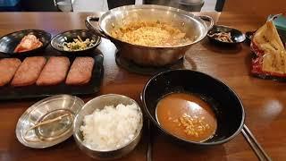 배부장김치찌개 + 스팸구이 오랜만의  먹방입니다.