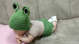 Newborn Frog Outfit/Baby Frog Outfit/Newborn Frog Costume/Newborn Halloween Costume