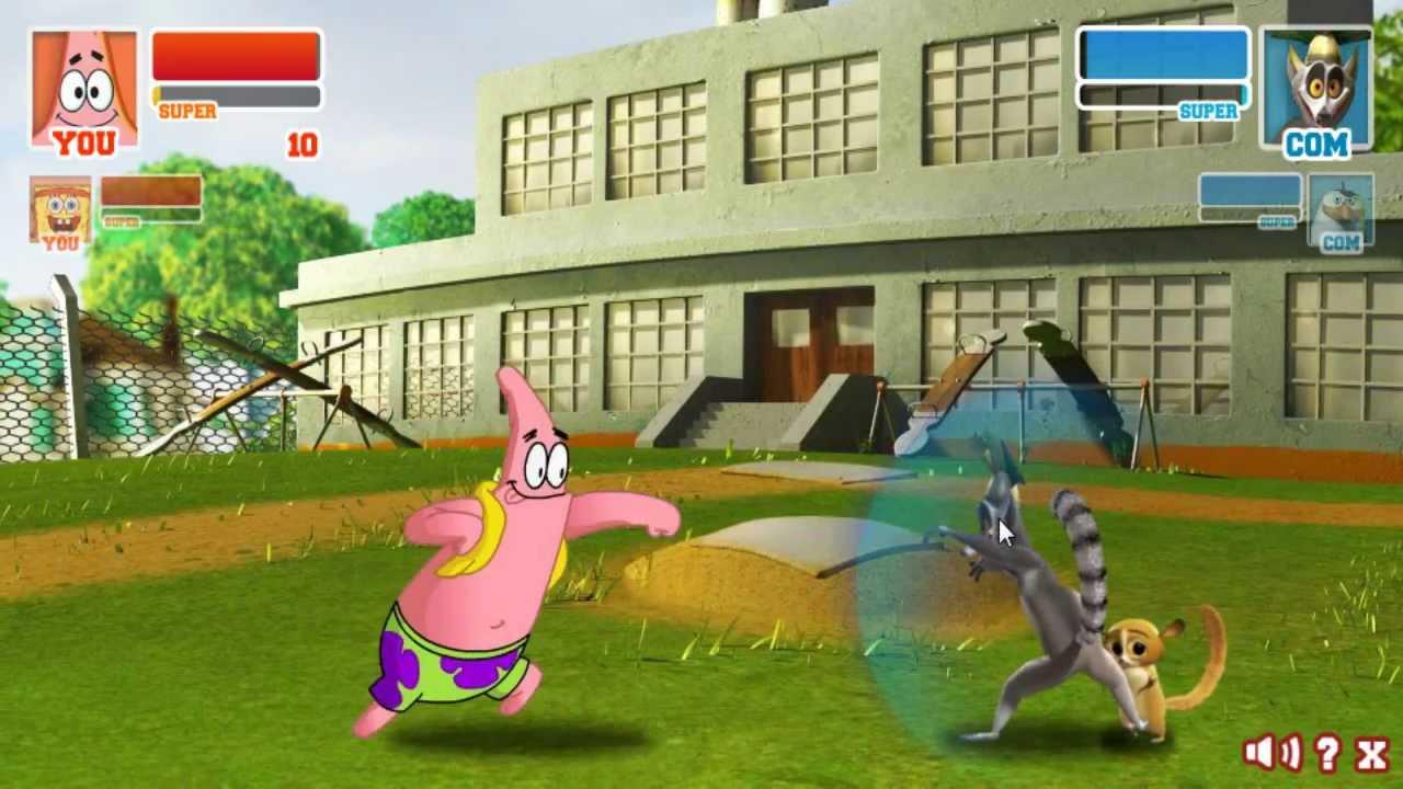 Патрик и Губка Боб vs Кароль Джулион и Рико - YouTube