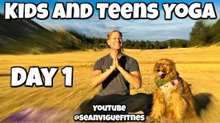 Monday - Dogs and Pigeons Class - Yoga for Kids and Teens Program