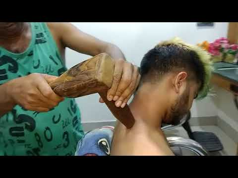 Tok Sen Massage Therapy By Indian Barber   Neck Pain Relief   Don't Miss Neck Crack   YouTube