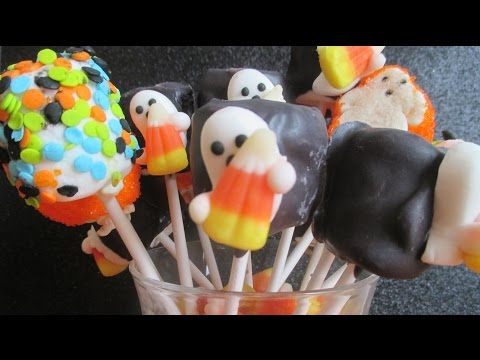 How To Make Halloween Marshmallow Pops 🎃 Easy Pumpkin and Ghost Pops