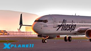 СТРИМ АХ, САН-ФРАНЦИСКО! / KSFO  - KPDX / ZIBO BOEING 737 (Alaska Airlines ASA359) | X-Plane 11 #14