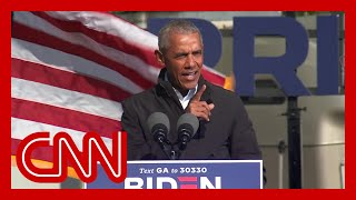 Download lagu Obama delivers scathing takedown of Trump at unscheduled Georgia rally