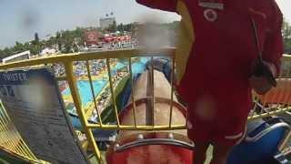 Twister la Aqua Magic in Mamaia/Constanta (filmare interior/onride)