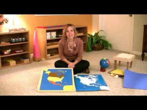 Montessori Cultural & Science Lesson - Continent Lesson (Part I)