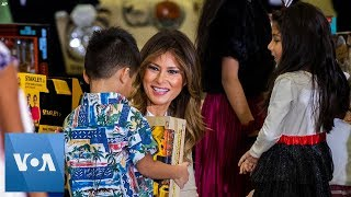 First Lady Melania Trump Assists Marines' 'Toys for Tots' in Washington