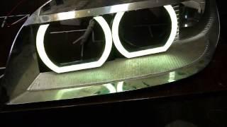 Шевроле Нива Ангельские Глазки RGB(светодиодные ангельские глазки в фары Шевроле Нива дорестайл. Меняют цвет свечения с ИК-пульта. Заказать..., 2015-07-07T17:57:52.000Z)