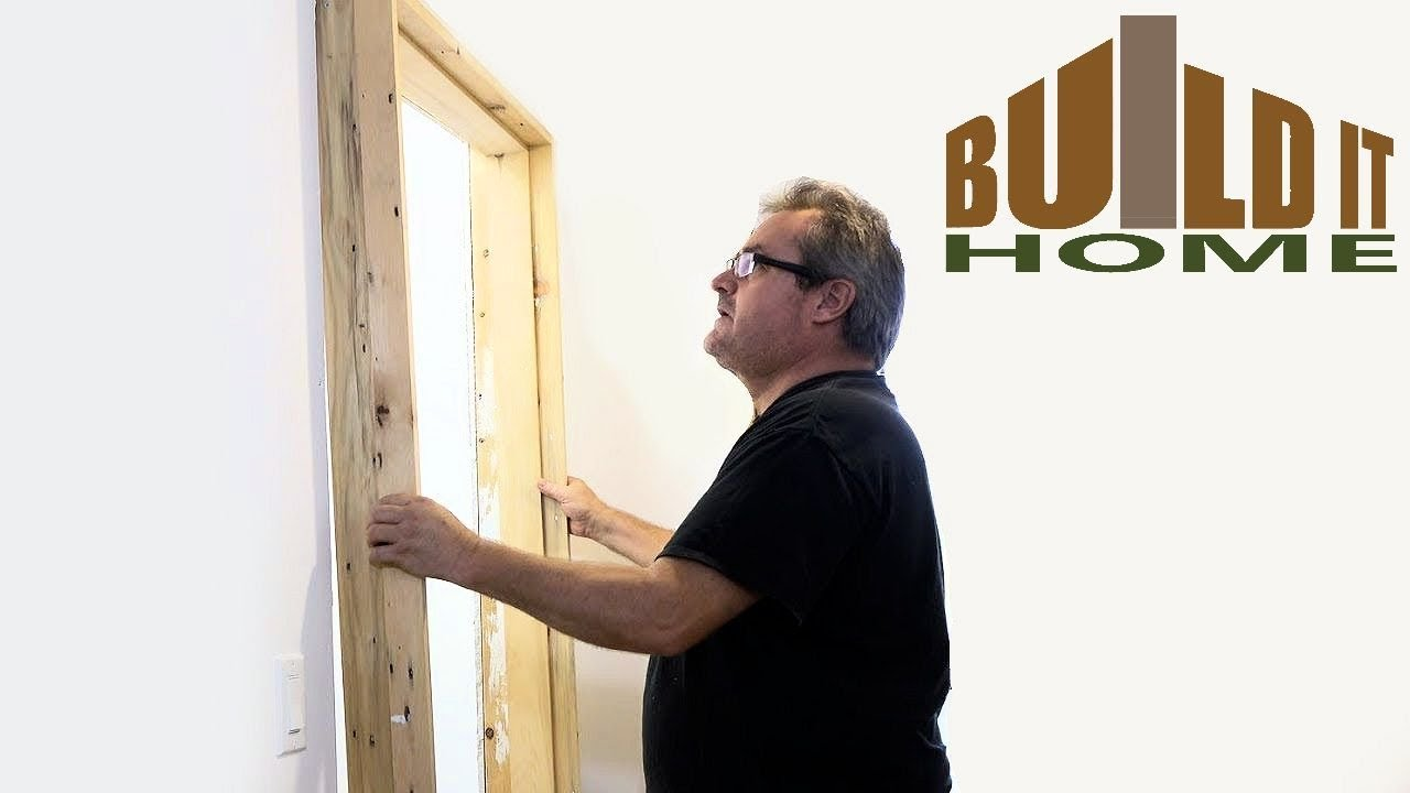 How To Install A Door Frame - YouTube