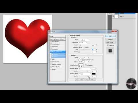 How To Make 3D Heart Photoshop CS6 5 4 3 2 (HD With Voice)