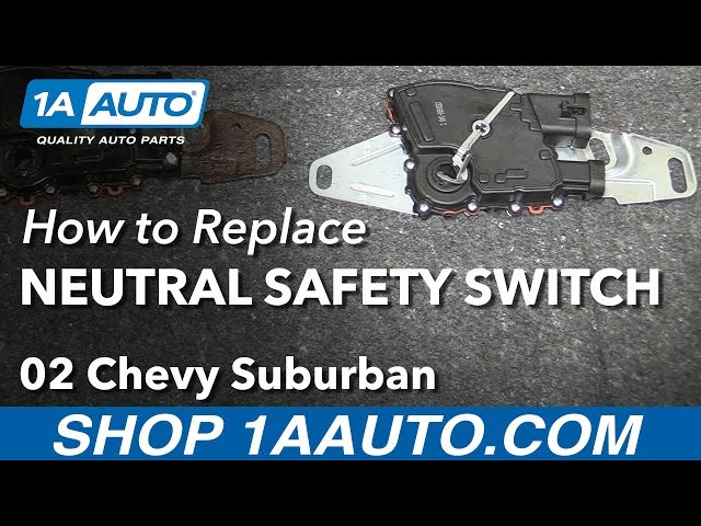How to Replace Neutral Safety Switch 00-03 Chevy Suburban 1500 | 1A Neutral Safety Switch Wiring Diagram For Trailblazer on wiring neutral safety switch 2001 cavalier, wiring diagram for oil pressure switch, wiring diagram for toggle switch, wiring diagram for wiper switch, wiring diagram for power window switch, a618 wiring neutral safety switch, wiring diagram for dimmer switch, wiring diagram for battery switch,