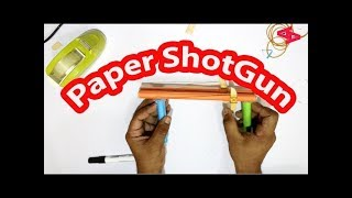 How to make a Paper Gun that Shoots 2 Rubber Bands