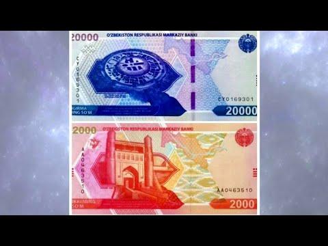 Uzbekistan New 2000 And 20000 Som Banknotes | O'zbekistonda Yangi 2000 Va 20000 So'mlik Banknotalar