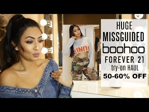 HUGE AFFORDABLE TRY-ON HAUL | MISSGUIDED | BOOHOO | FOREVER 21 ETC